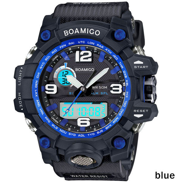 New Boamigo Tactical Sports Men's Watch with 50m Water Resistant Feature
