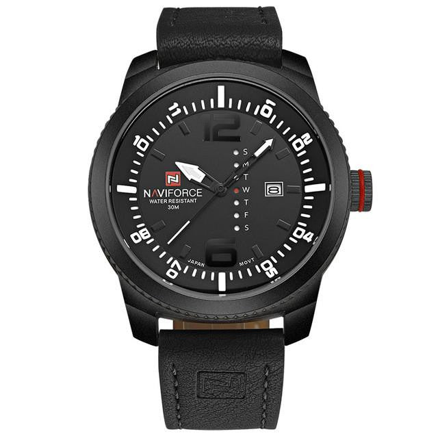 Luxury NAVIFORCE Watch for Men with Analog Display and Premium Leather Strap