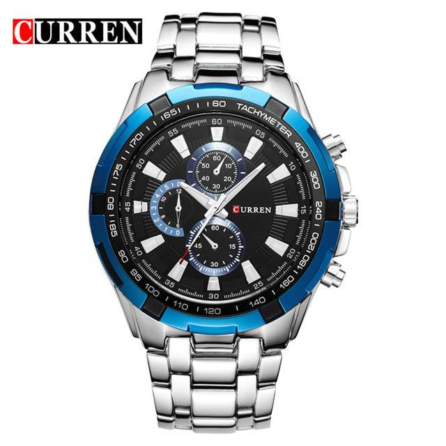 Brand New Luxury CURREN Watch for Men with Analog Display and Stainless Steel Strap