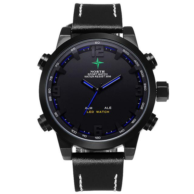 Luxury NORTH Watch for Men with Dual Analog and Digital Display