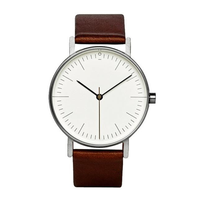 Exquisite Looking Watch for Men and Women with Analog Display and Genuine Leather Strap