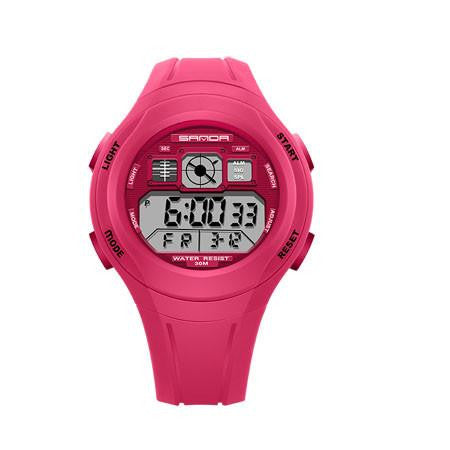 New SANDA Digital Watch for Children with High Quality Rubber Strap