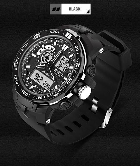 Genuine SANDA Watch for Men with Dual Analog and Digital Display
