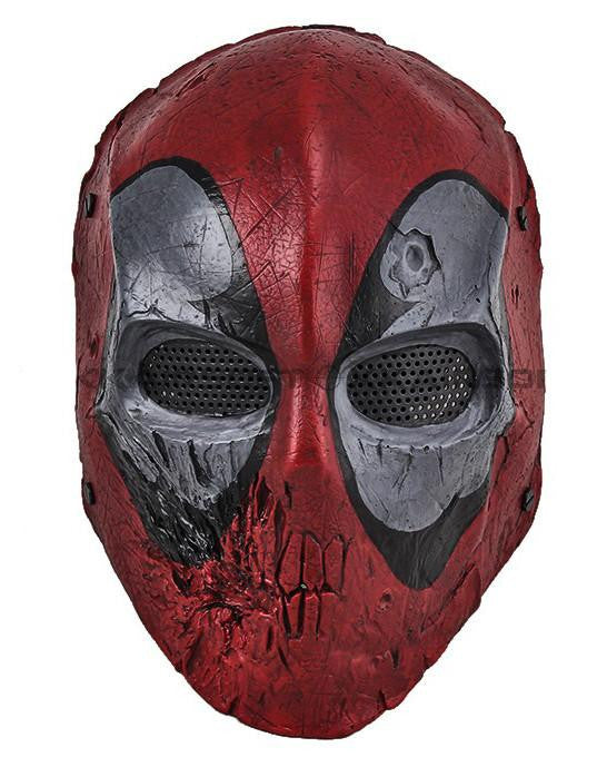 Paintball Airsoft Wire Mesh Dead Pool Full Face Mask