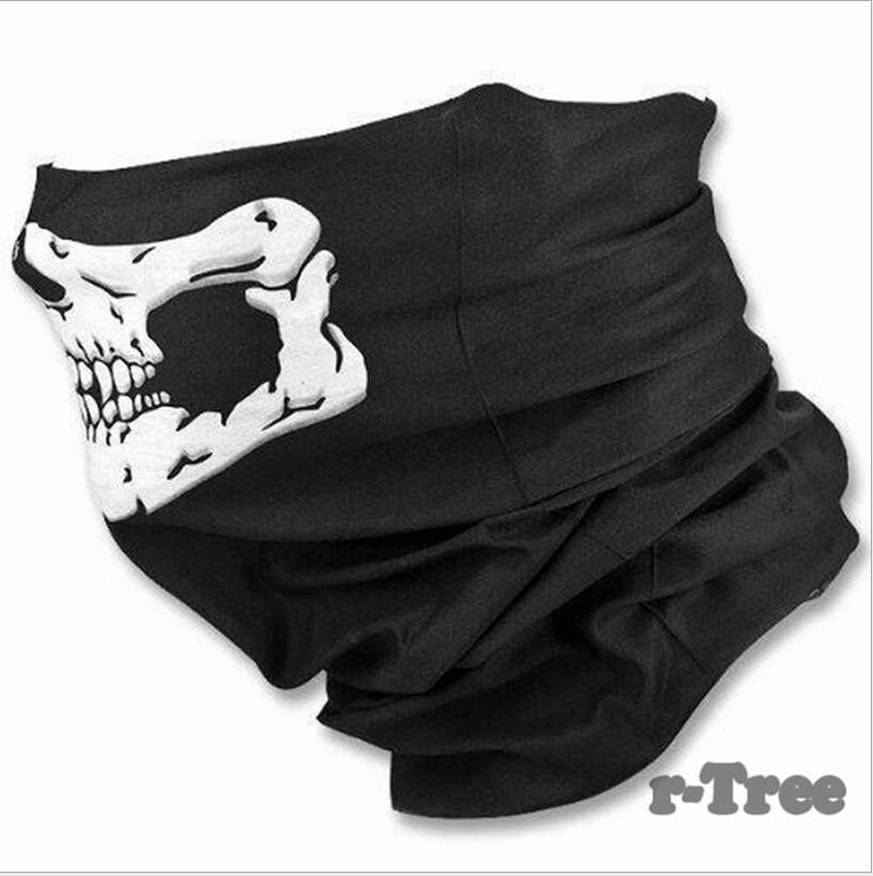 Comfortable Outdoor Face Mask with Skeleton Design