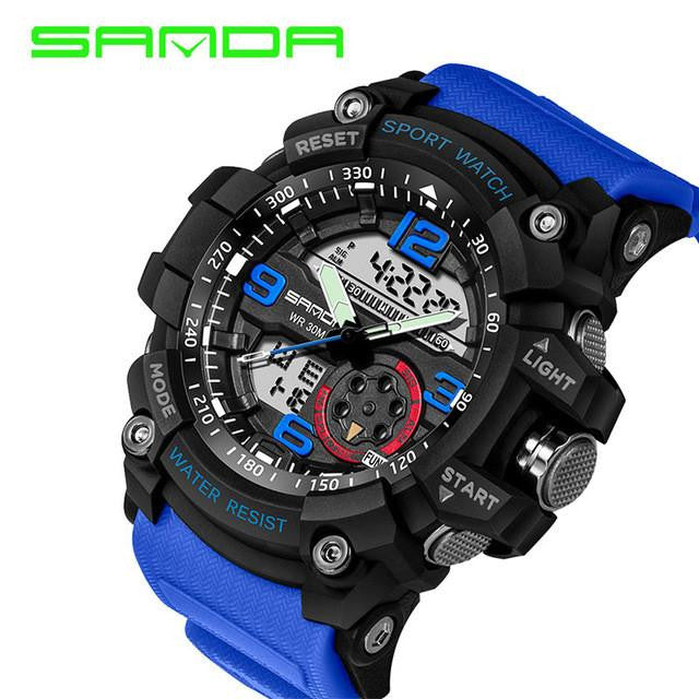 New Luxury Brand SANDA Real Masculine Sports Watch for Men
