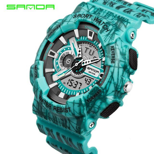 Luxurious SANDA Watch for Men with Dual Analog and Digital Display