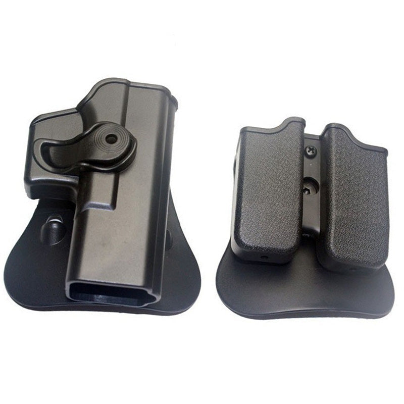 Tactical Gun Pistol Holsters with Magazine Clip Pouch