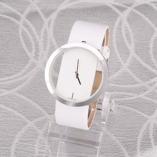 New Round Quartz Hollow Dial Unisex Casual Watch