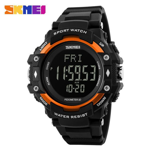 Digital Pedometer SKMEI Health Sports Watch with Heart Rate Monitor