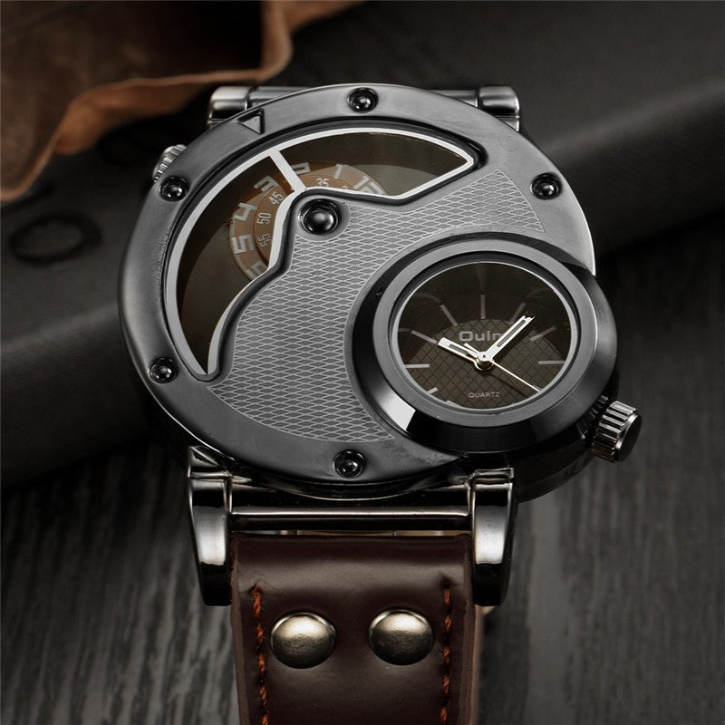 Top Brand Oulm Unique Design Men's Military Sports Watch