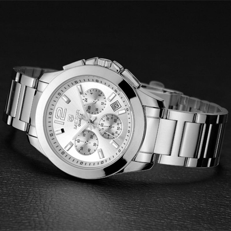 New MEGIR Women Casual Quartz Watch with 24 Hours Function Engraved Dial