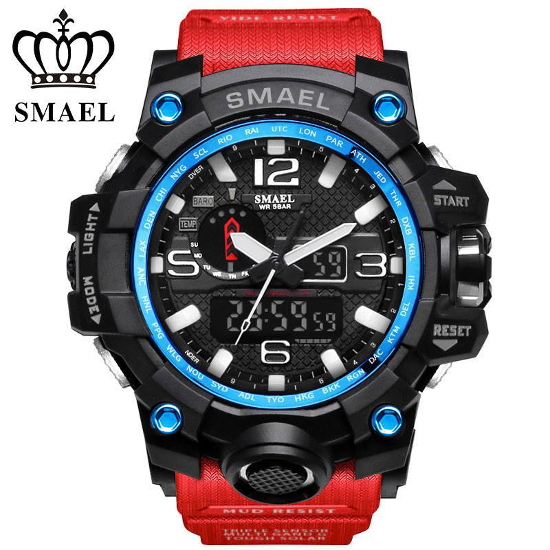 Men's Big Beefy Digital and Analog Military Style Wrist Watch