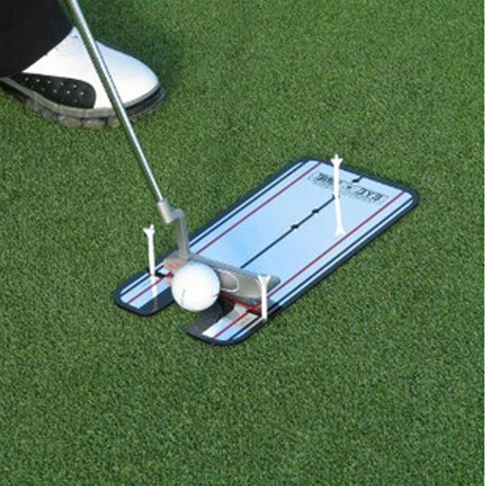 New Golf Swing Straight Practice Golf Putting Mirror Alignment Training Aid Swing Trainer Eye Line Golf Accessories 31 x 14.5cm