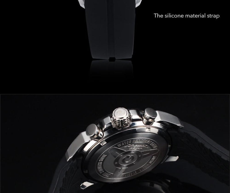 Elegant Sports Fashion Men's Watch with Soft Silicone Strap