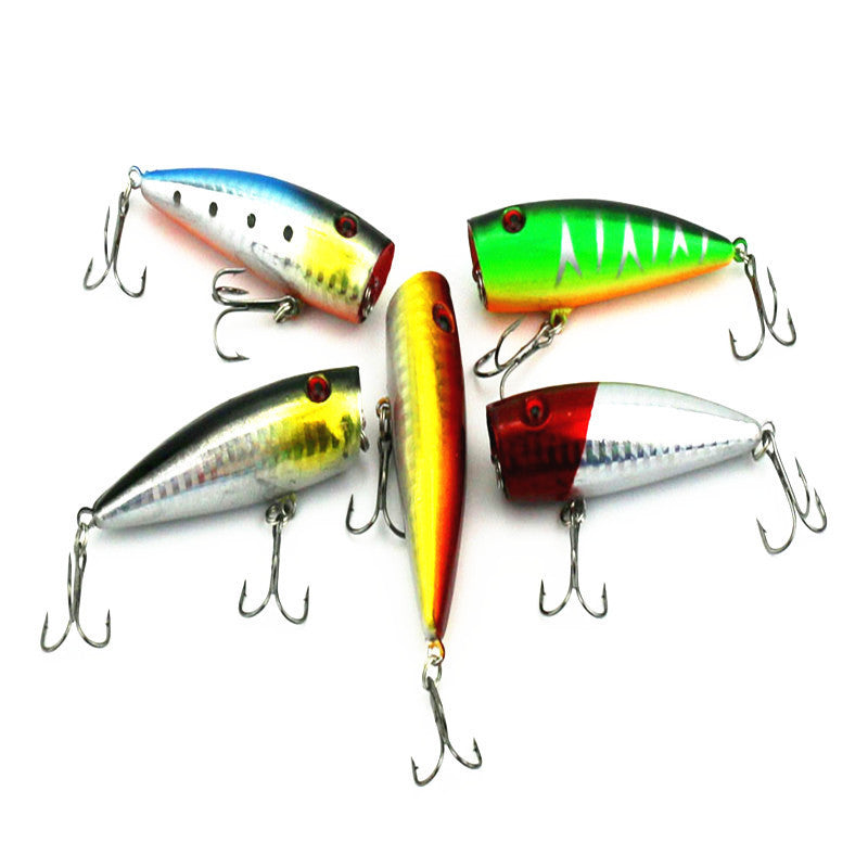 5pc 7cm fake lifelike bait Fishing Topwater Floating  Lure with sharpen Hooks Bait track equipment pesca  kit