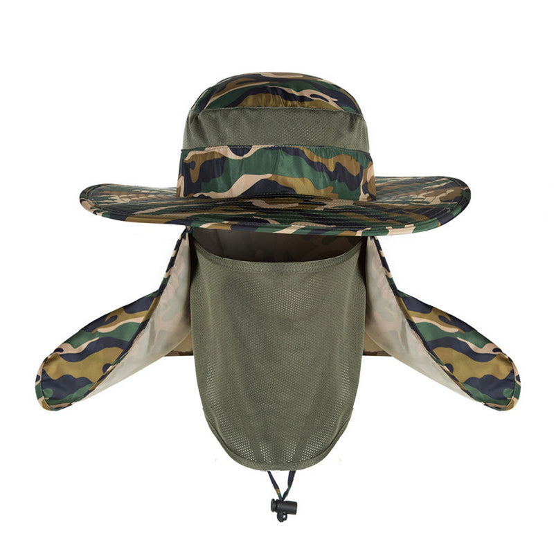 2017 Fashion Hot Sale Bucket Hat Outdoor Unisex Brim Sun Block Quick Drying Fishing Hat  Big Wide Brim Neck Flap Climbing Hats