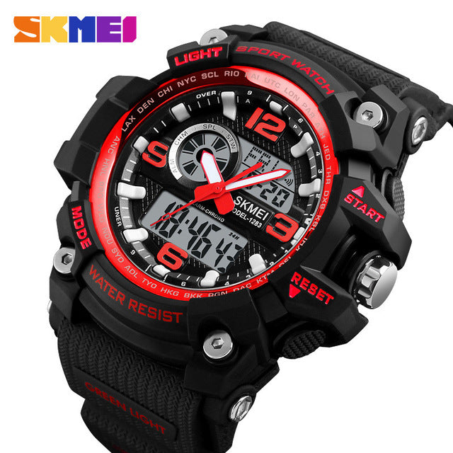 Men's Dual Display Chronograph 50M Water Resistant Sports Watch