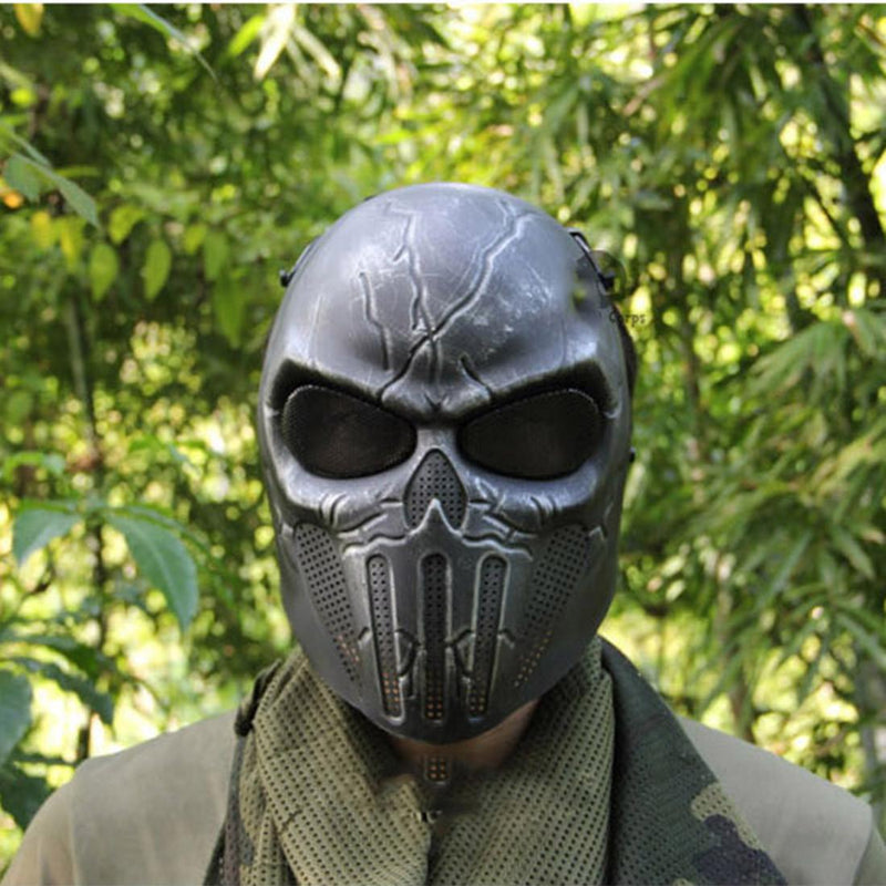 Outdoor Hunting CS War Game Full Face Skull Mask Skeleton Airsoft - Multiple Colors - Gogobomo Gear