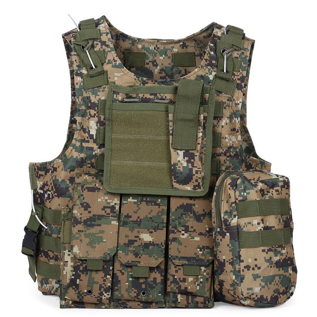 Unique Tactical Vest with Pouch Assault Plate Carrier for Outdoor Use