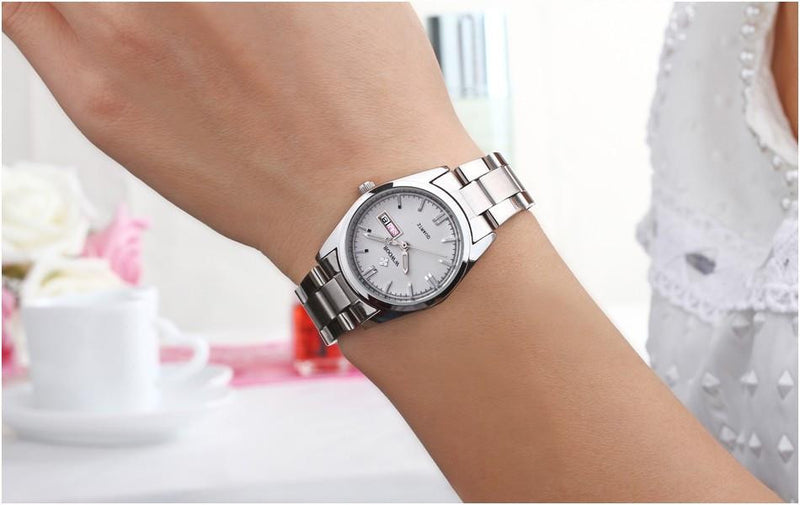 Brand New Luxury Watch for Women with Analog Display and Stainless Steel Strap