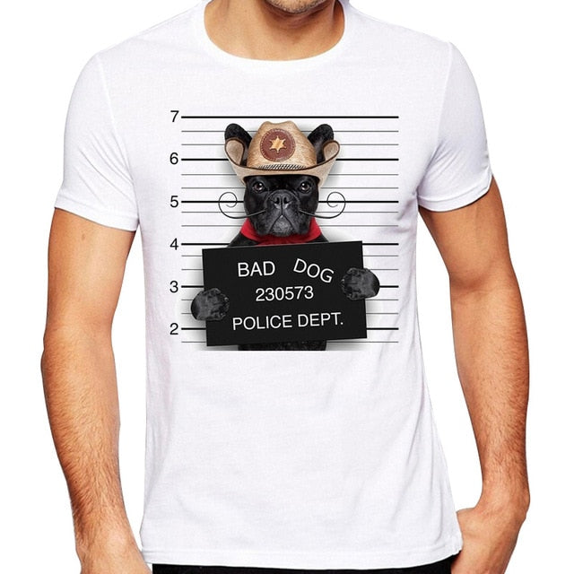 Bad Dog Mugshot T Shirts