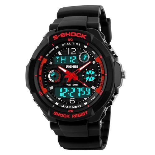 S SHOCK SKMEI Luxury Military Sports Watches Digital LED Quartz Wristwatches Rubber Strap - Gogobomo Gear