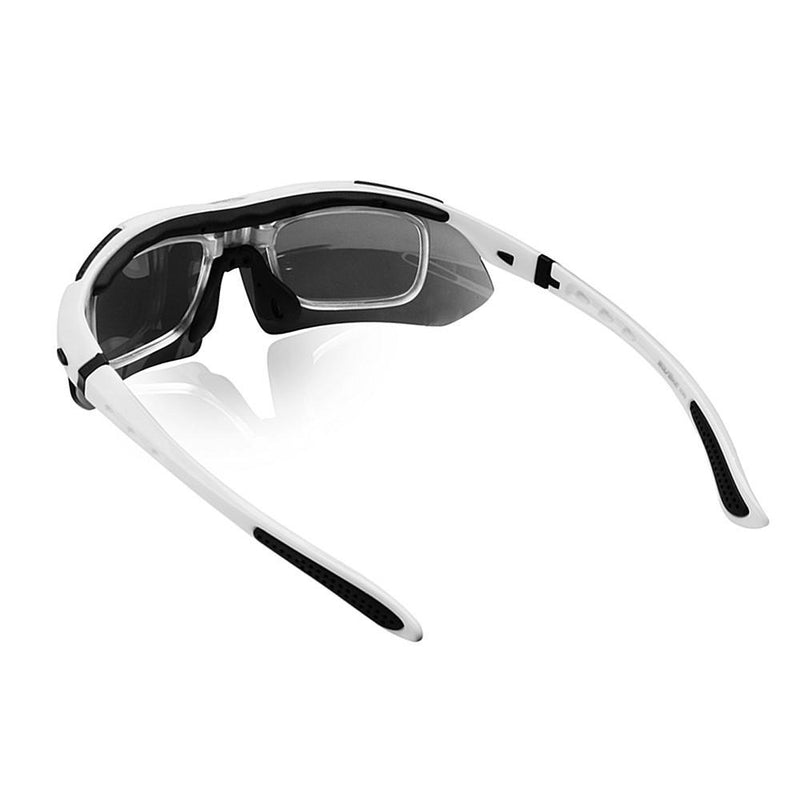 WOSAWE Men Polarized Cycling Glasses Outdoor Sports Bicycle Glasses Bike Sunglasses TR90 Goggles Cycling Eyewear 5 Lens White - Gogobomo Gear