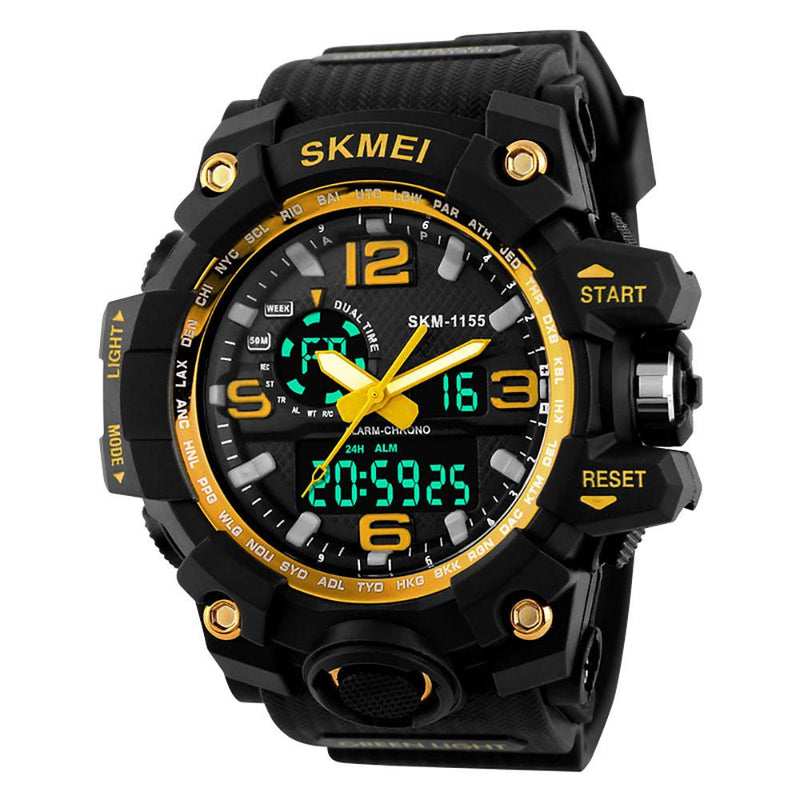 Men's Ultra Tough Waterproof Digital and Analog Sports Watch Multiple Colors Available - Gogobomo Gear