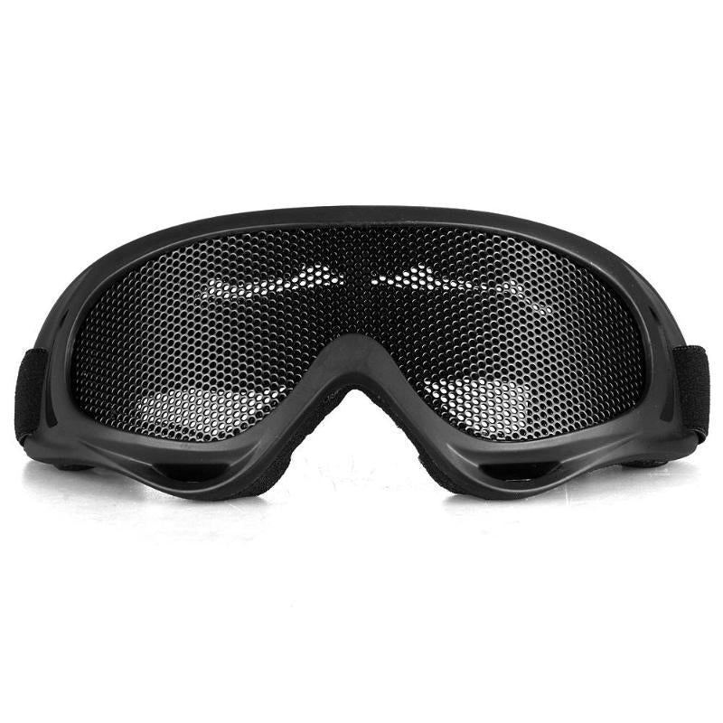 CS Airsoft Tactical Goggles Glasses Anti Fog Metal Mesh Big Motorcycle Eye Safety Protection - Gogobomo Gear