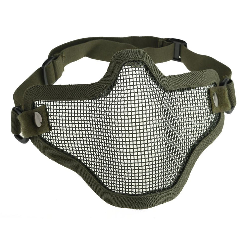 Breathable Airsoft Paintball Protective Half Face Mask Outdoor Hunting Cycling Mesh - Gogobomo Gear