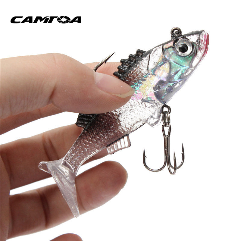 Paillette Fishing Lure 7.6cm Artificial Soft Bait Carp Crankbait with Treble Tackle Hooks - Gogobomo Gear