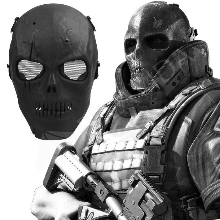 Skull Skeleton Mask Airsoft BB Gun Full Face Protect Wargame Rubber Padded Mask - Gogobomo Gear