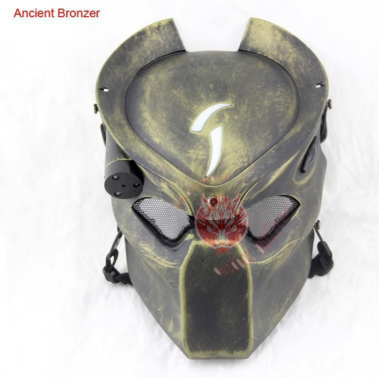 CS Airsoft Mask with Infrared Light Predator Hunter Tactical Cosplay Halloween Party - Gogobomo Gear