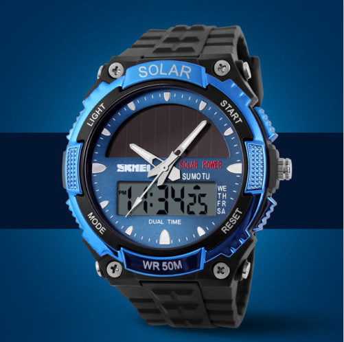 Men's Sports Watches SKMEI Solar Power LED Digital 5ATM Waterproof - Gogobomo Gear