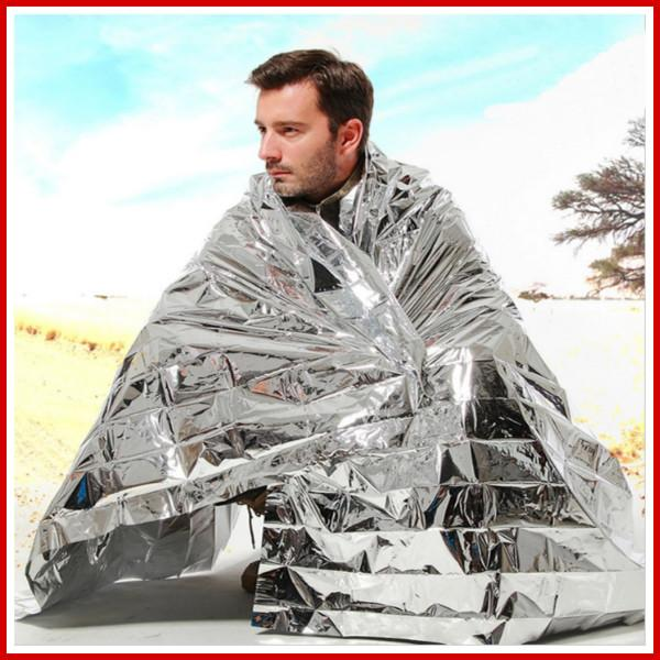 Outdoor Waterproof Emergency Survival Rescue Blanket Foil Thermal Space First Aid Sliver Rescue Curtain Military Blanket - Gogobomo Gear