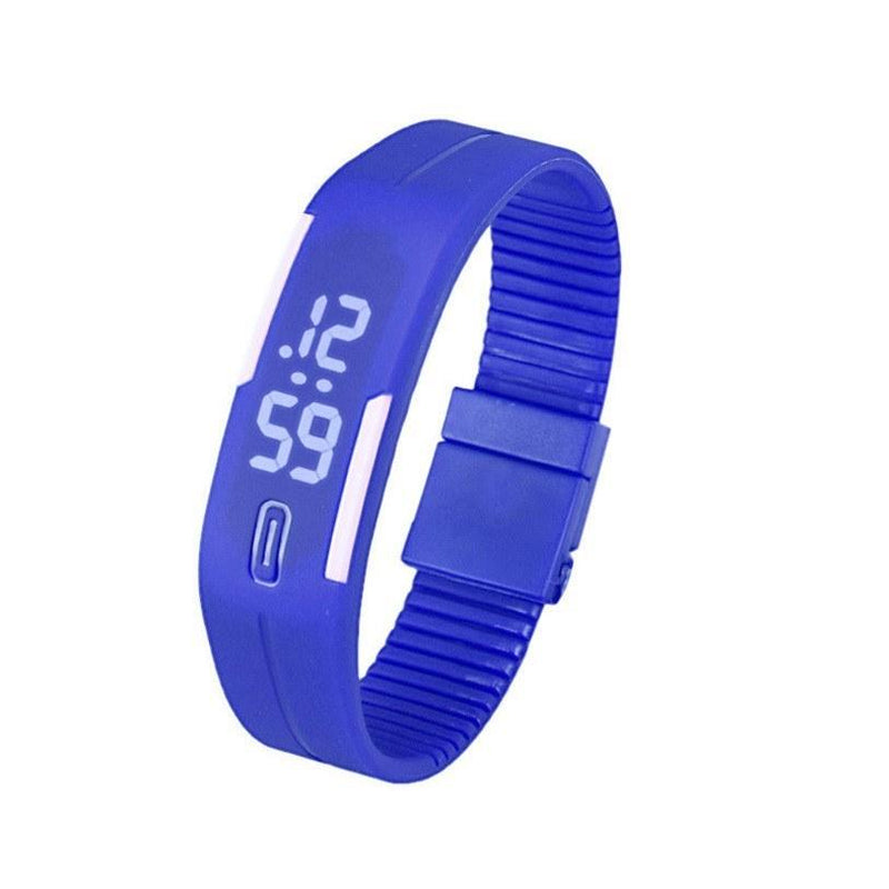 Men and Women Rubber LED Watch Date Sports Bracelet Digital Wrist Watch - Gogobomo Gear