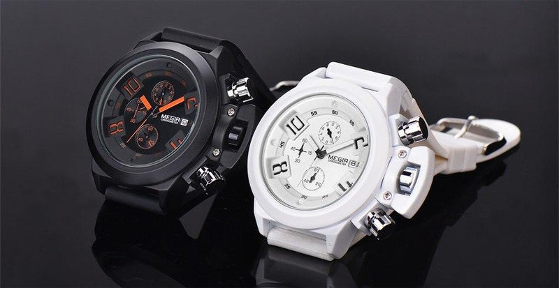 Men's Elegant Classic Black Watch Precision Time Chronograph Sport Watches Analog - Gogobomo Gear