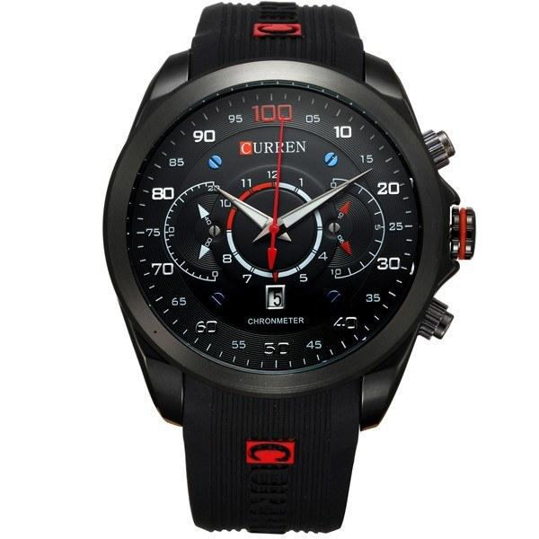 Men's Luxury Sports Watch Rubber Strap Quartz 3ATM Water Resistant Casual Wristwatch - Gogobomo Gear