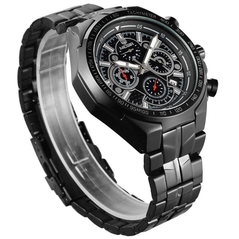 tactical style megir mens sports watch with water. Black Bedroom Furniture Sets. Home Design Ideas