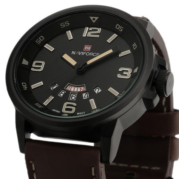 Men's Quartz Hour Date Clock Leather Strap Watches Sports Military Army Waterproof Wrist Watch - Gogobomo Gear