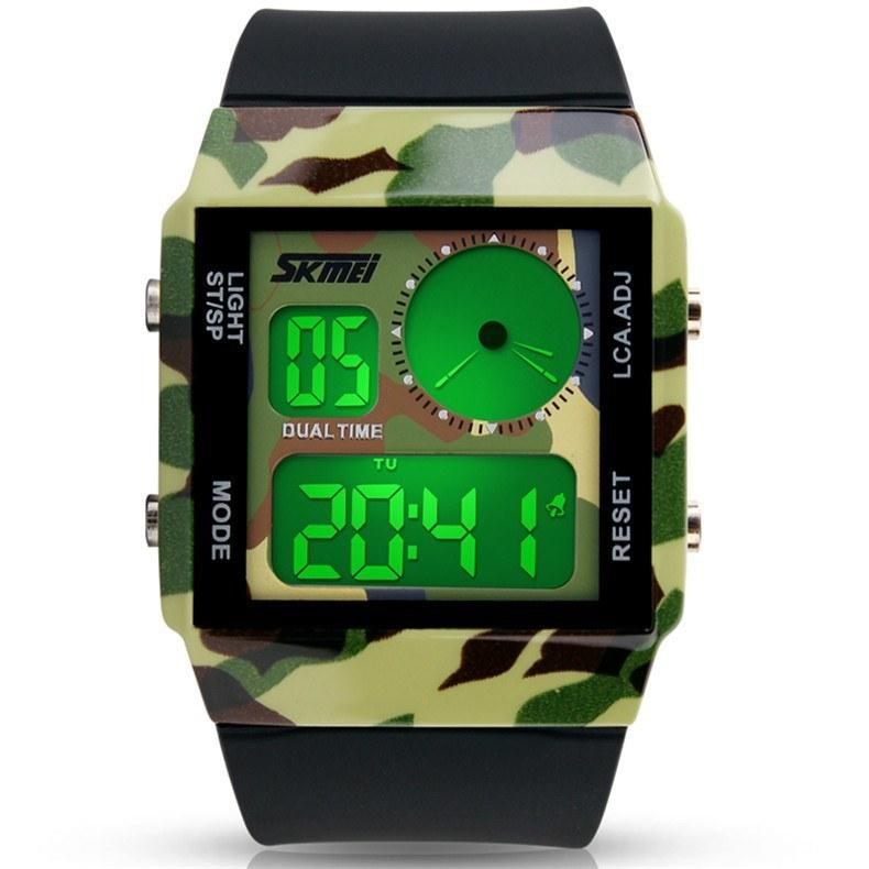 Men's SKMEI Quartz Digital Watch Men Sports Watches LED Military Waterproof Wristwatches - Gogobomo Gear