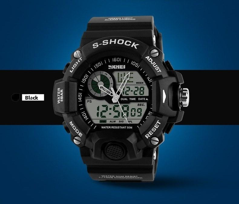 Men's SKMEI Sports Watches Waterproof Casual Watch Digital Analog Military Wristwatches - Gogobomo Gear