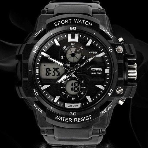 Men's Sport Watch Electronic Quartz Wristwatches Digital Alarm Military Watches 30m Water Resistant - Gogobomo Gear