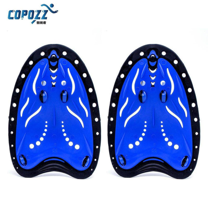 Adjustable Silicone Hand Swimming Trax Paddles Fins Flippers Webbed Training Pool Diving Gloves - Gogobomo Gear