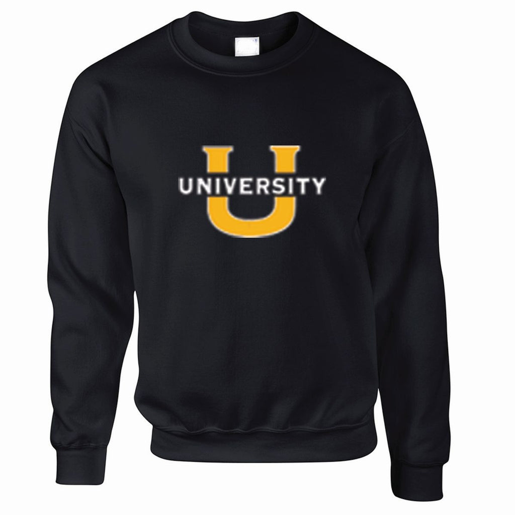 University Crewneck Sweatshirt BLACK