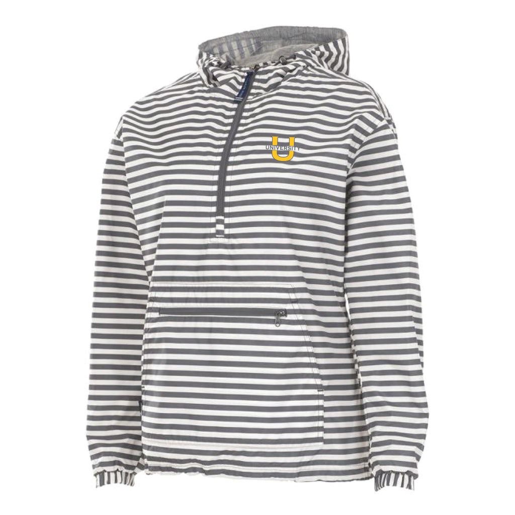 Wind and Rain Jackt - Grey/White Stripe