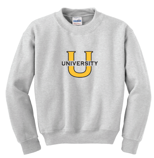 University Crewneck Sweatshirt -ASH GREY