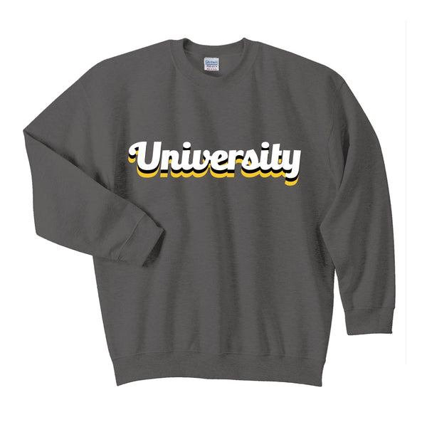 Rainbow University Crewneck Sweatshirt -Dark GREY