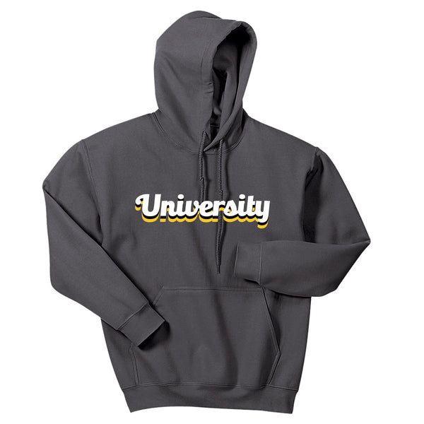 Ranibow University Crew Hoodie Sweatshirt - Grey
